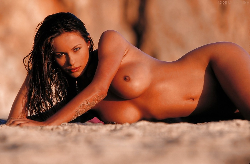 Sexy Brunette In These Nude Pics Touching And Spreading Her Shaved Pussy