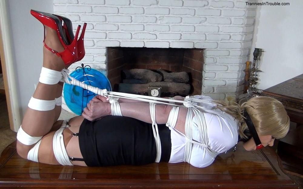 Exposed sissy bondage slaves