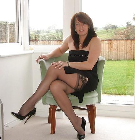 Hot Blonde Milf Stockings