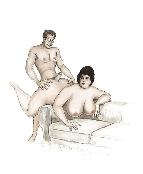 толстушек порно комикс