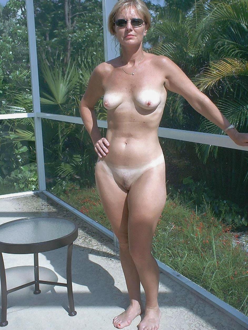Skinny Mature Blondes Tan Lines