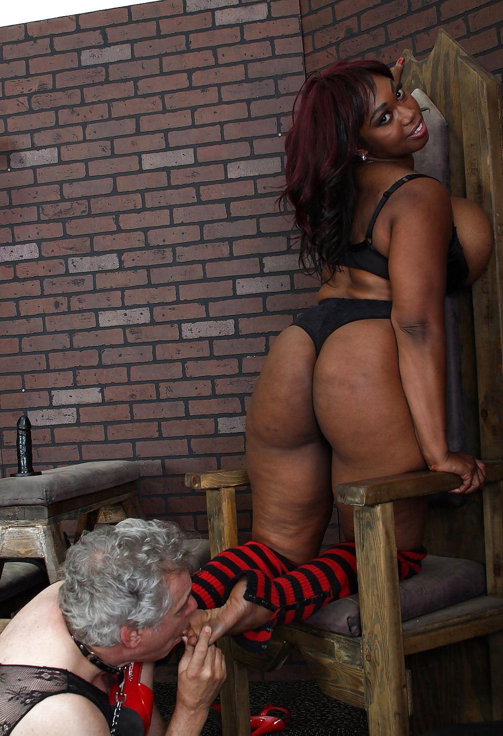 Ebony femdom castration