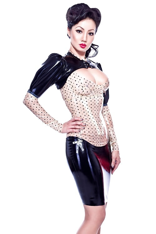 Beauty Milf In Her New Latex Super Hero Outfit Photos 1