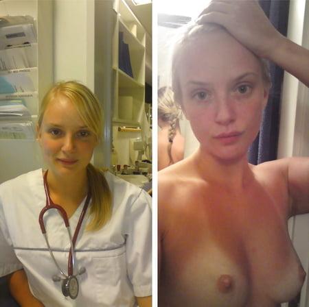 real amateur nurses selfies
