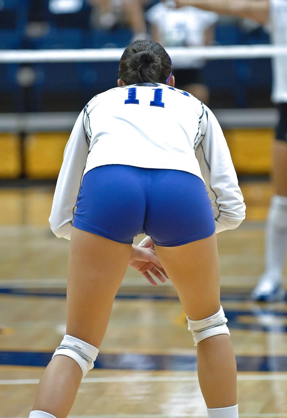 Hot volleyball girls grab ass