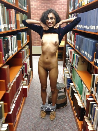 Nude In Library