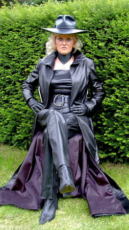 pvc boots leather latex