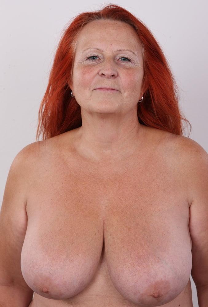 Older mature freckled tits