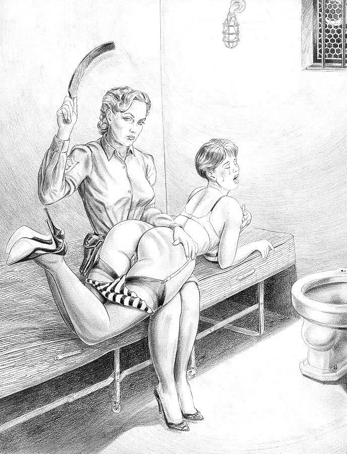 Roger benson spanking art drawings