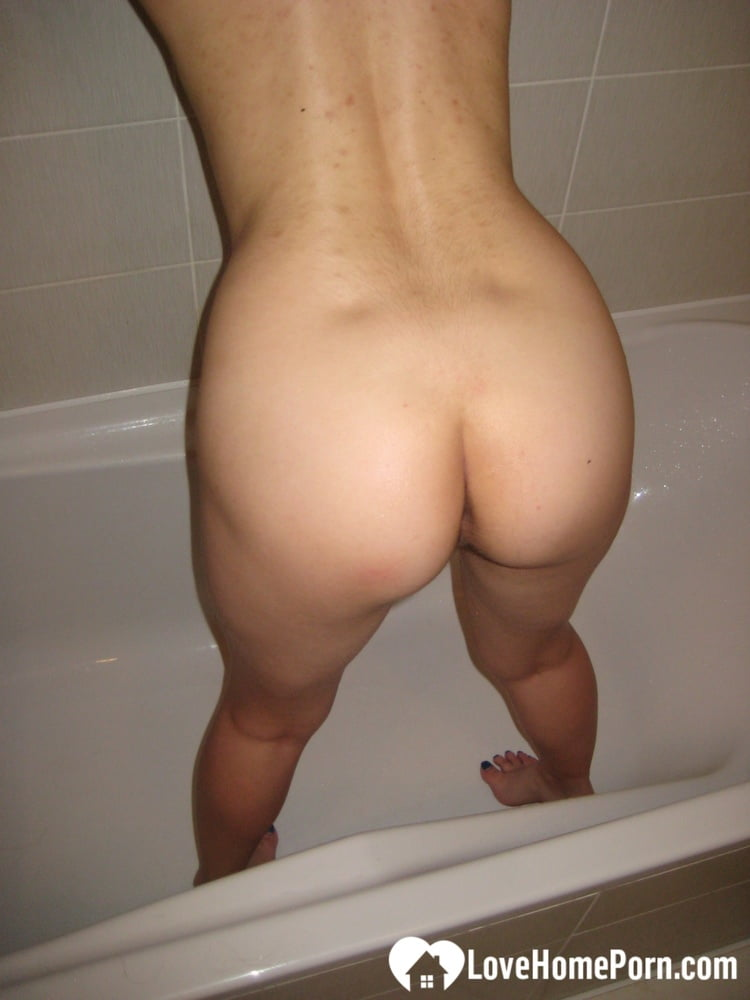 Perfect brunette teases before she takes a bath - 142 Pics