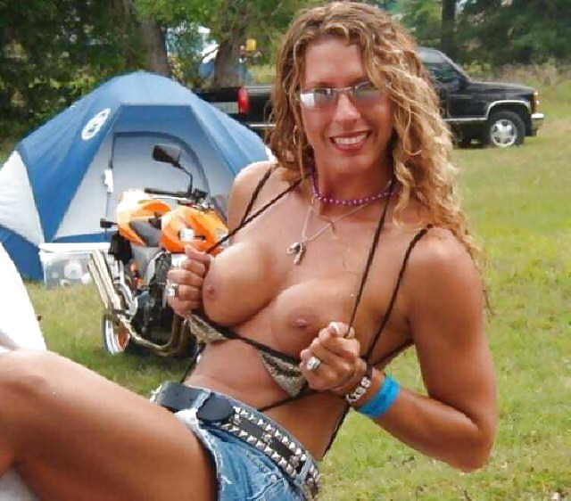 Naked chicks at bike rally icing