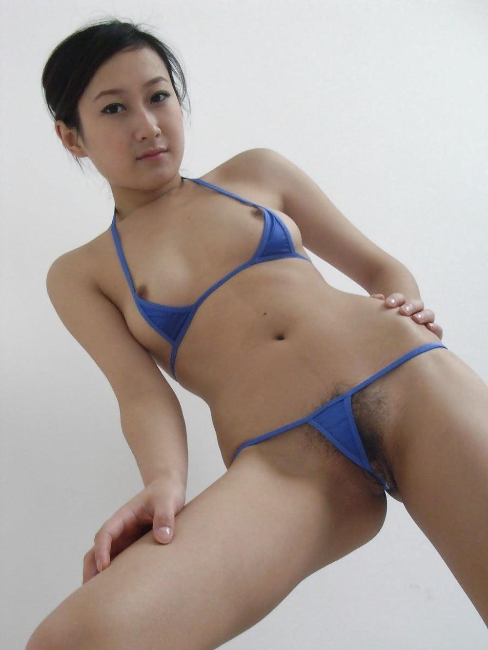 Micro bikini asian girls