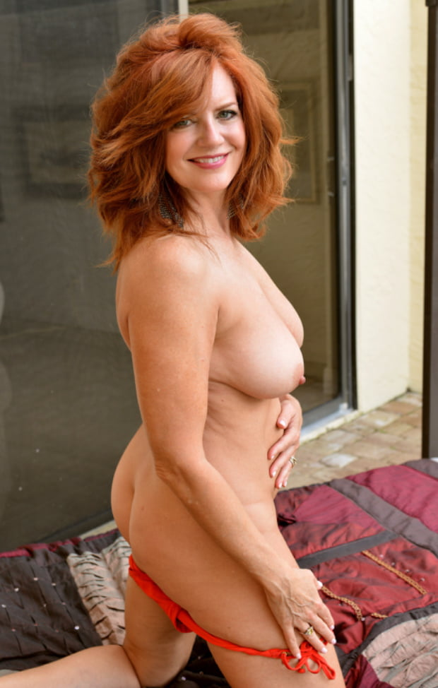 Sexy busty redhead mature — 1