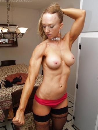 redhead muscle girl
