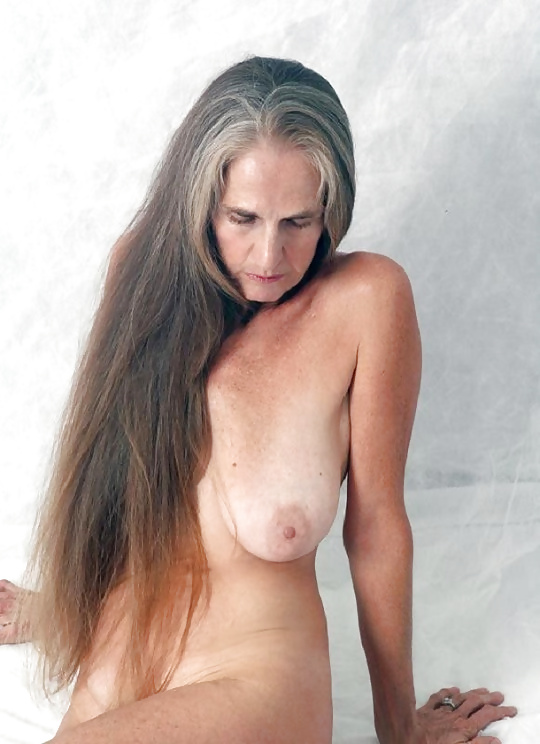 Gray hair asian nude