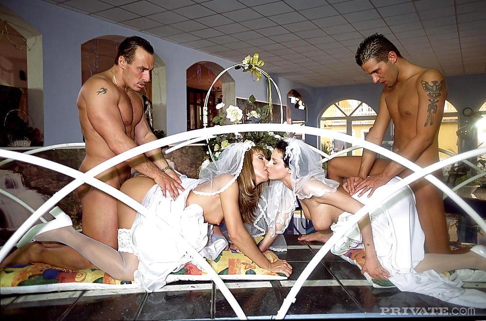 групповуха на свадьбе с двумя невестами