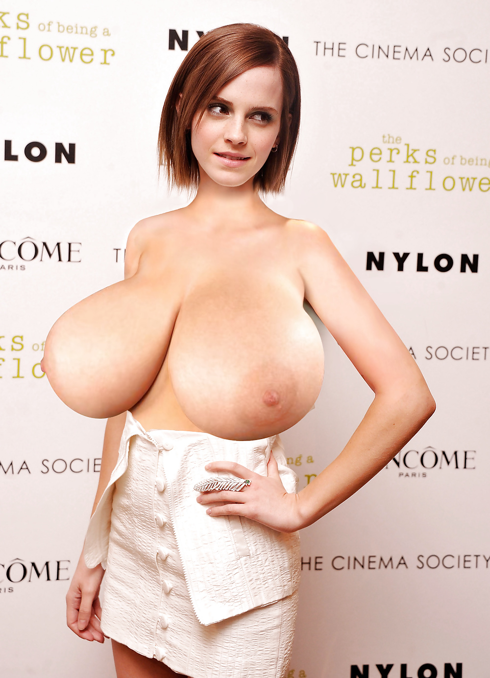 Famous Celebrity With Massive Boobs Expansions Morphs Pictures