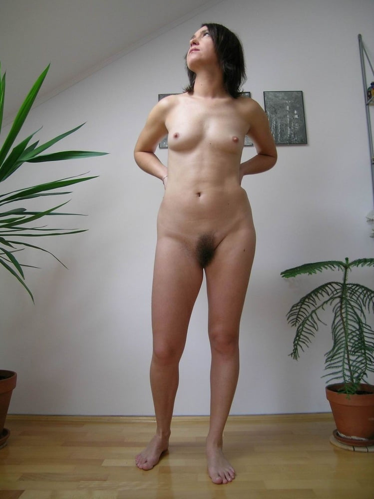 Brunette Is Standing Naked Surrounded By People, While Showing Hairy Cunt Russian Sexy Girls