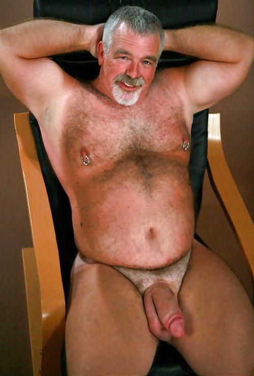 Hairy gay silver bears nude — 7