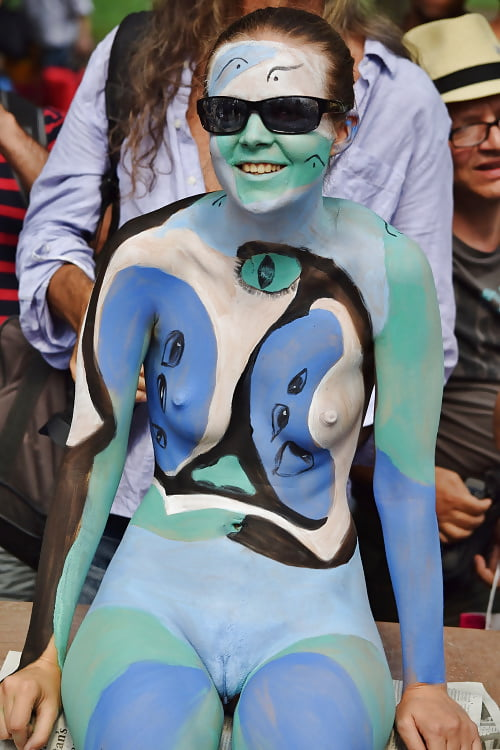 Naked amateur body painting — 3