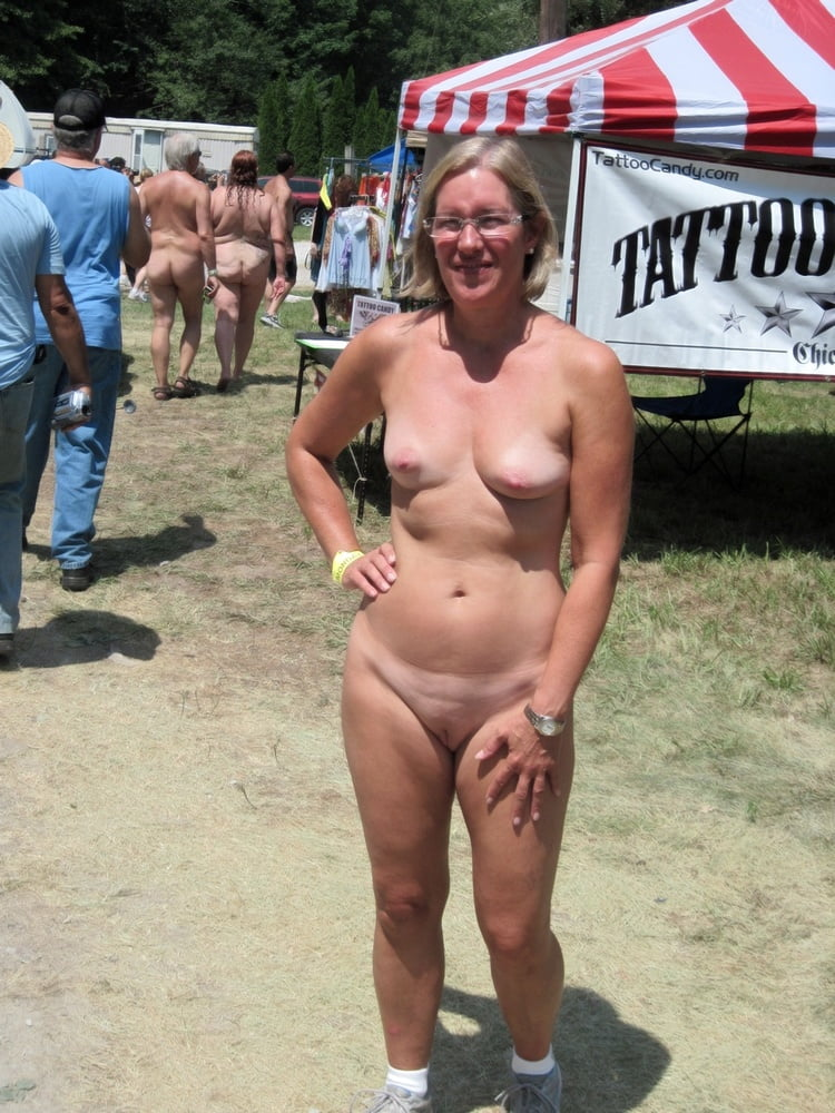 This mature babes fully naked on the public place