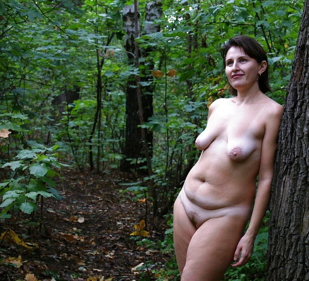 Fat mature nude outside