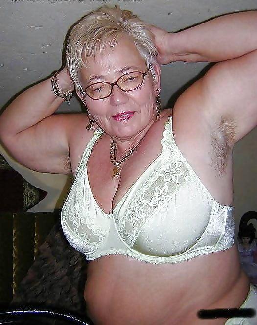 Mature wearing lingerie