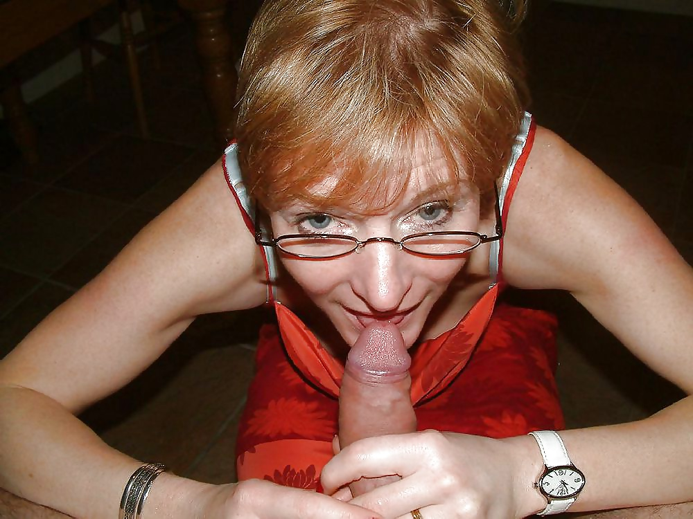 Public mature blowjob