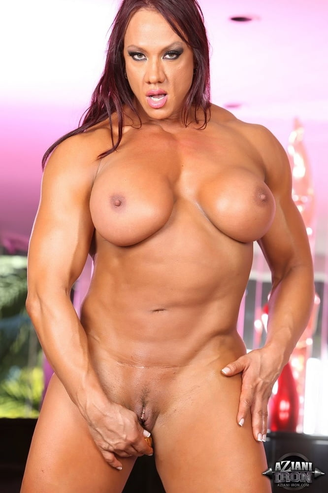 Watch female bodybuilder with huge clit