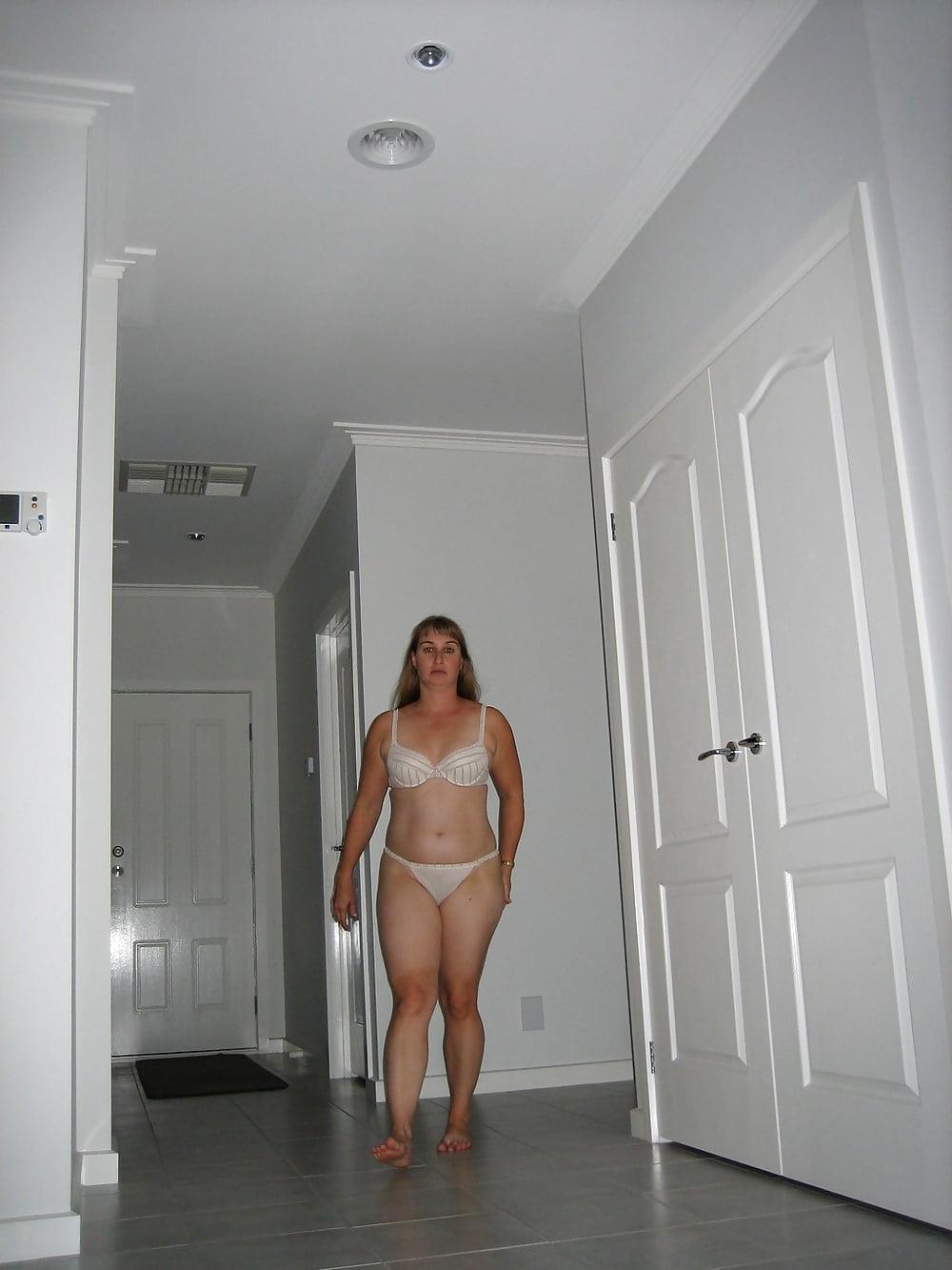Very mom walking around the house nude playing big cock