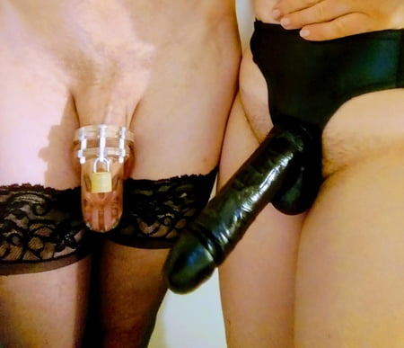 strap Big on dildo black
