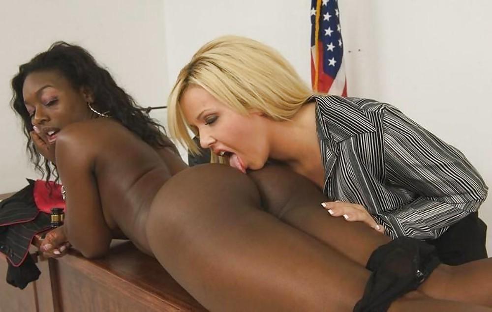 Interracial lesbian ass