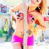 Karla Carrillo shorts on the beach
