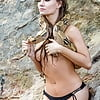 Naked Caitlin O'Connor with Snake
