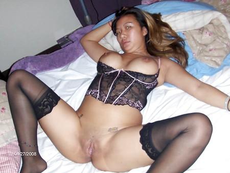stockings in Oriental milf