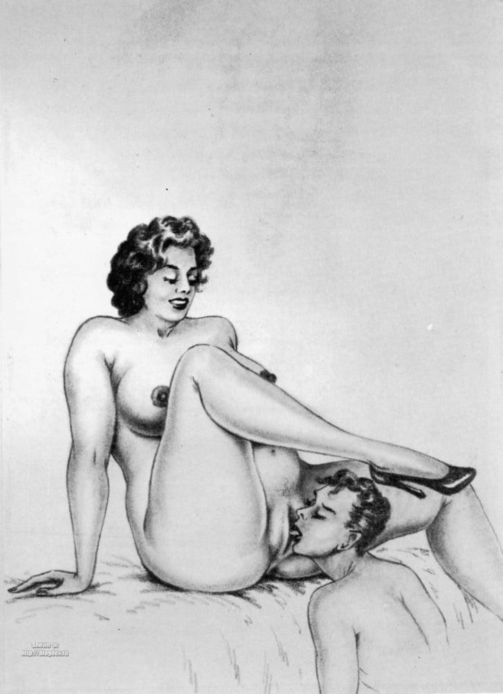 Эротические ретро рисунки сначала