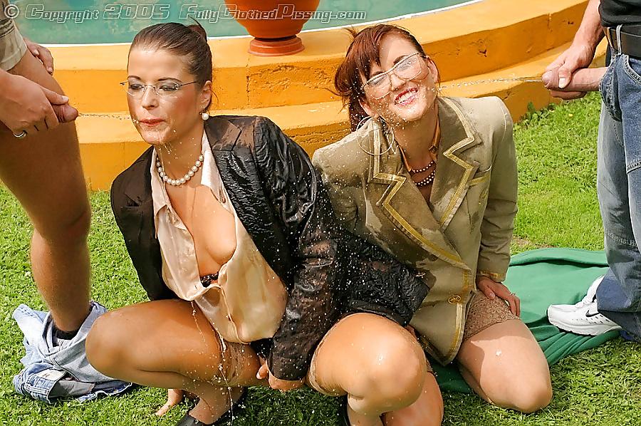 Clothed big tits girls