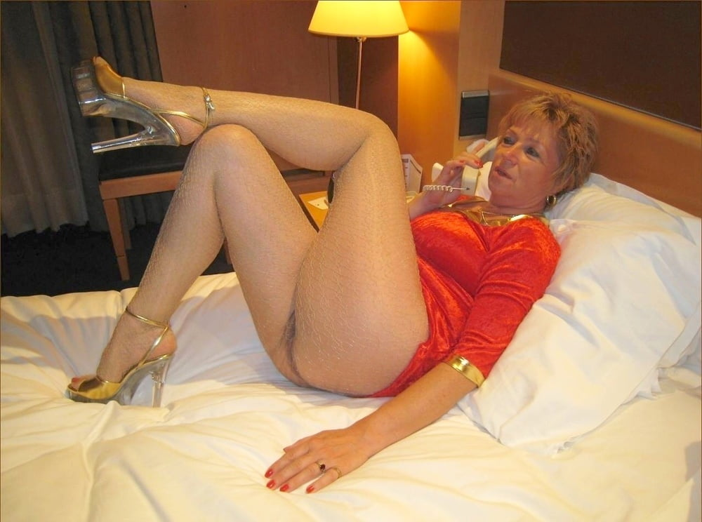 Sexy mature woman strappy lingerie underwear