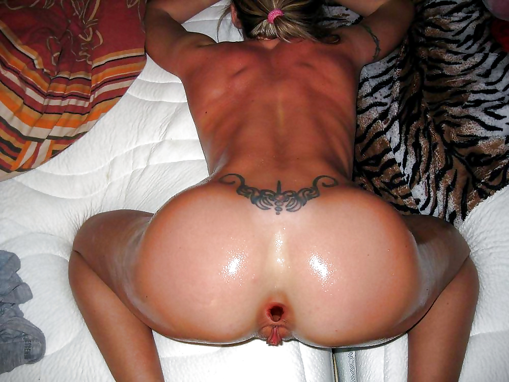 Tattoo shaved bent over pierced clit ass extreme slut skank whore anus image uploaded by user