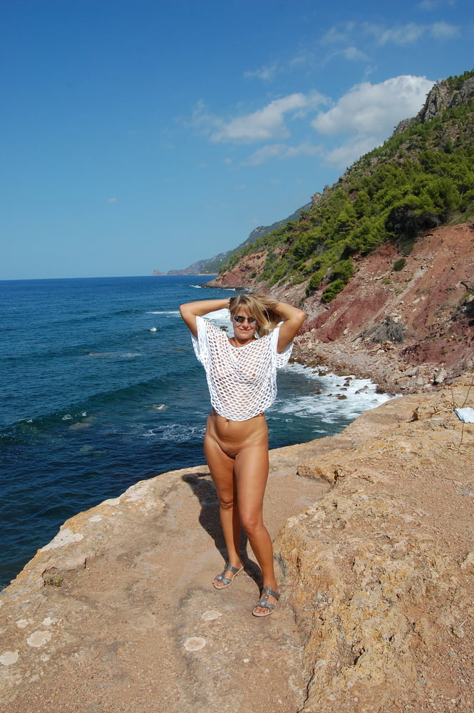 On the cliffs on vacation