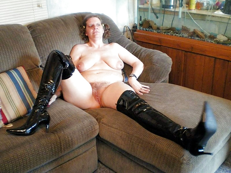Housewife sluts in black boots