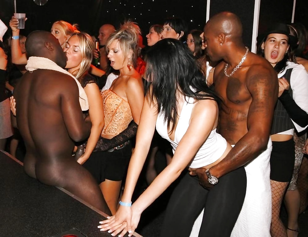 man-black-nude-party