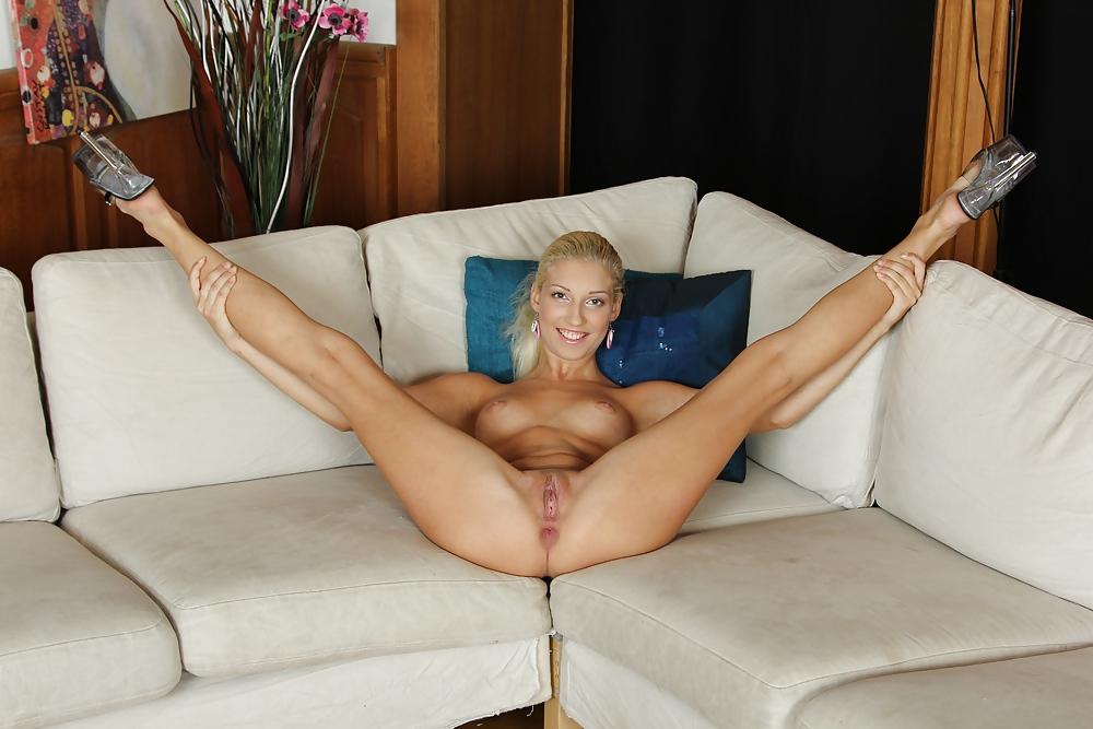 Girls with legs spread open