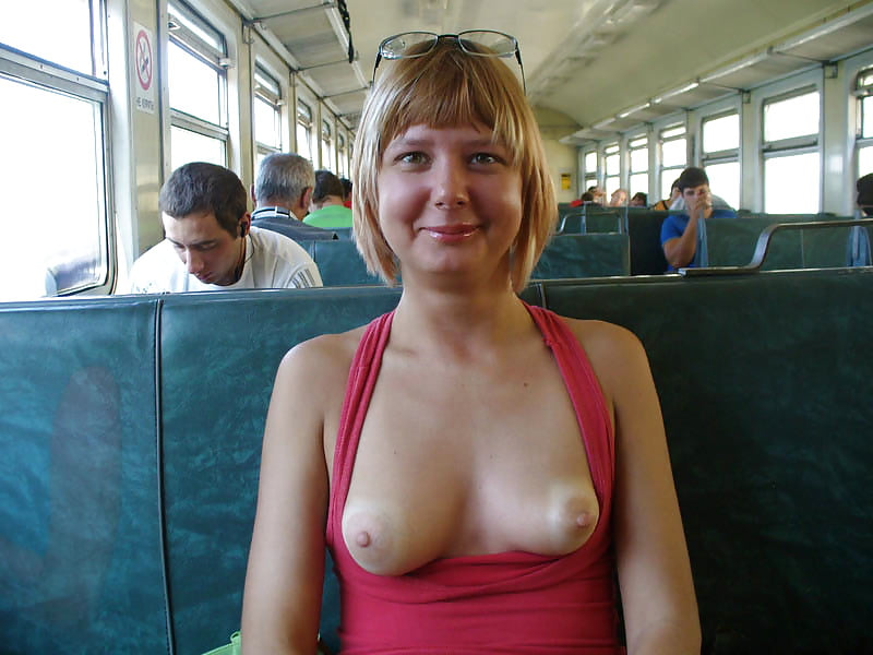 Train Perfect For Showing Tits And Sucking Cock