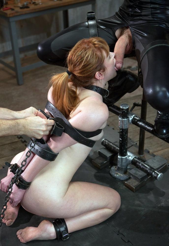 Crazy bondage femdom hand jobs