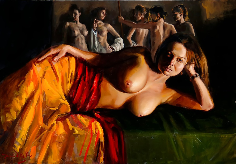 Hot sale abstract nude lady painting art
