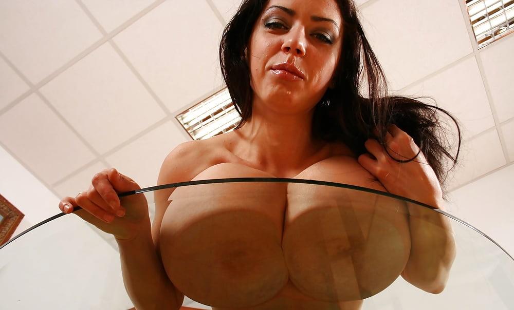 Aneta tits on glass