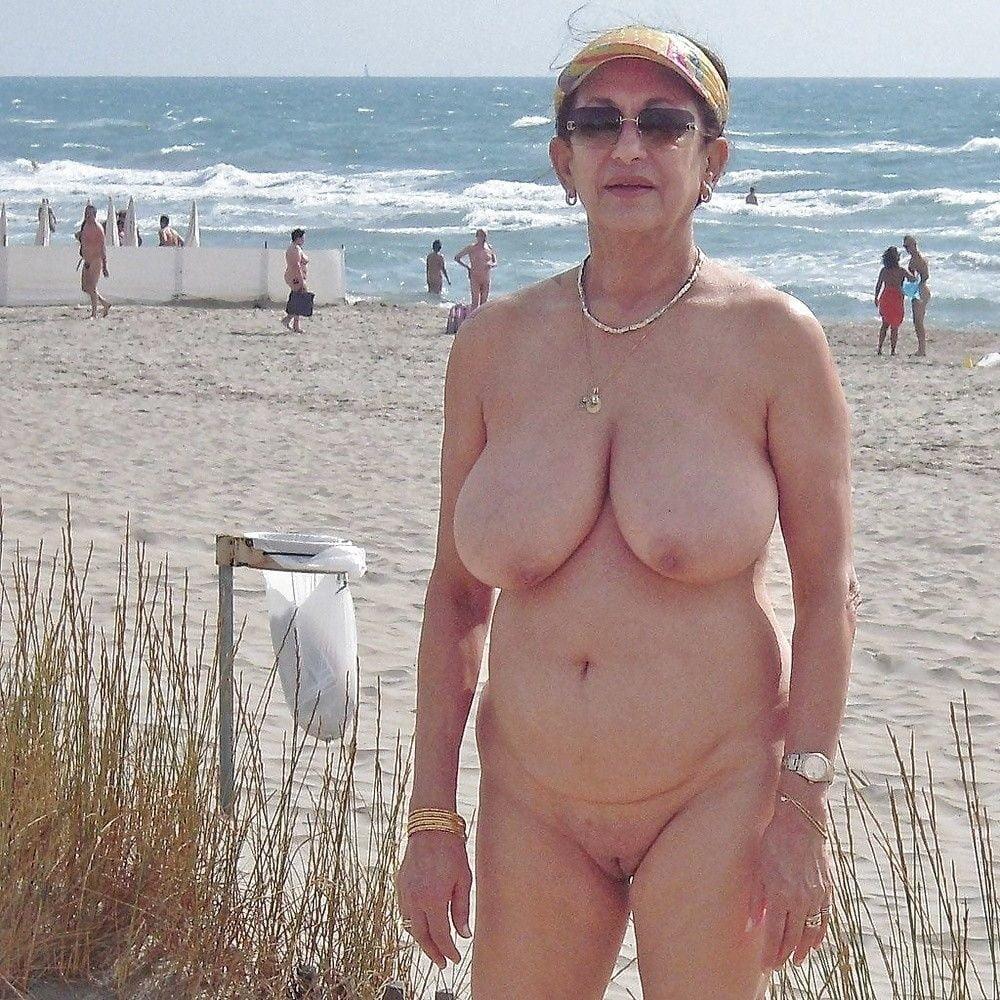 Grandma is topless liberating