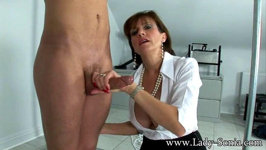 Busty Lady Sonia Handjob