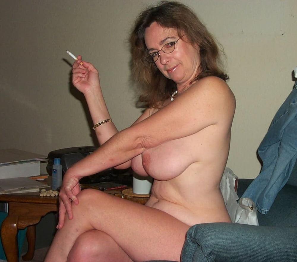 Nude Mature Women Smoking Cigarettes